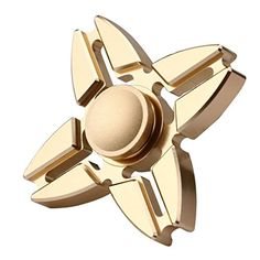 MNtech New Fidget Hand Spinner Triangle Finger Toy EDC Focus ADHD Autism Adult Children adhd fidget toys (Gold)