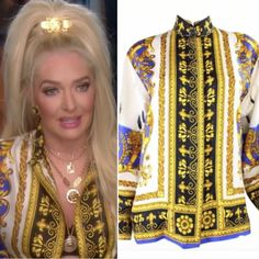 bd9c38215 Erika Girardi's Printed Confessional Blouse. Housewives Of Beverly HillsFashion  TvSeason 8Real ...