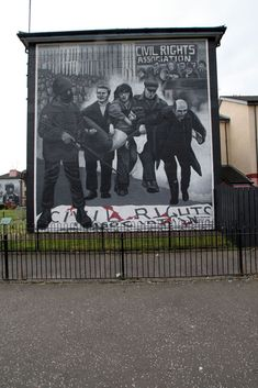 Irish Mural from Derry, Northern Ireland