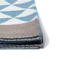 Stockholm Throw - woven in Peru and inspired in Sweden.  Peacock and Taupe.