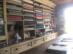 fabric department in general sotre in mumford villiage living history museum