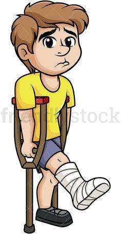 Medical Clip Art, Medical Symbols, Hospital Cartoon, Simple Resume Format, Cartoon Images, Cartoon Clip, Indoor Games For Kids, Leg Injury, Crutches