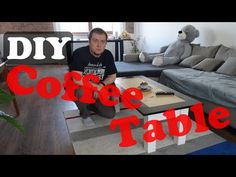 Here is how I build a coffee table from some boards that were just laying around and I was tired to move them just because I always trip over them. Build A Coffee Table, Old Coffee Tables, Project Yourself, Make It Yourself, Diy Table, Tired, Boards, Diy Projects, Building