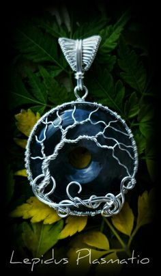 Sterling silver wire wrapped moss agate tree of life pendant by Lepidus Plasmatio