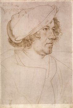 HOLBEIN, Hans the Younger  Portrait of Jakob Meyer zum Hasen  1516  Silverpoint, red chalk, and traces of black pencil on white coated paper, 281 x 190 mm