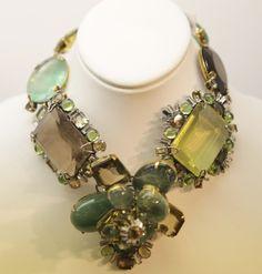 Iradj Moini Necklace- flourite lemon lime green quartz topaz and peridot