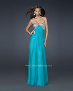 La Femme 17118 Chiffon With Bodice  Soft And Flowing For Prom 2012 $498
