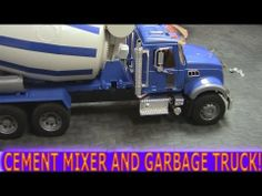Cement mixer helps out the little toy garbage truck #garbagetrucksrule