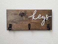 Do It Yourself Organization, Entryway Organization, Entryway Decor, Organized Entryway, Key Hooks For Wall, Wall Key Holder, Key Holders, Diy Key Holder, Mail And Key Holder
