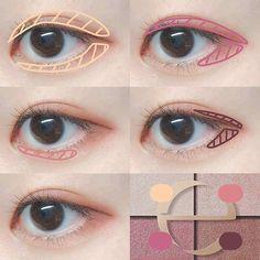 Eye Makeup Steps, Eye Makeup Art, Makeup Inspo, Eyeshadow Makeup, Makeup Inspiration, Korean Natural Makeup, Korean Eye Makeup, Asian Makeup Tutorials, Ulzzang Makeup