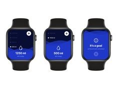 My Water Balance app for Apple Watch by Anton Zakharchenko on Dribbble
