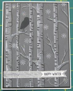 Stampin' on the Prairie: Among The Branches, Stampin' Up!, Woodland embossing folder, owl