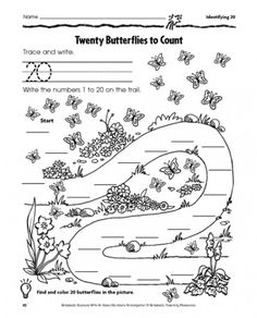 Worksheets Scholastic Math Worksheets dog match activities math and children twenty butterflies to count practice page