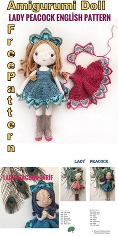 Best 12 In this article I will share with you a great amigurumi doll free pattern. You can enjoy this beautiful amigurumi doll free pattern with pleasure. Doll Amigurumi Free Pattern, Crochet Dolls Free Patterns, Crochet Doll Pattern, Amigurumi Doll, Crochet Toys, Free Crochet, Crochet Beanie, Peacock Crochet, Crochet Projects
