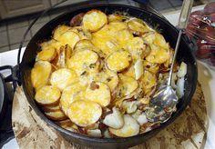 Dutch Oven Scalloped Potatoes