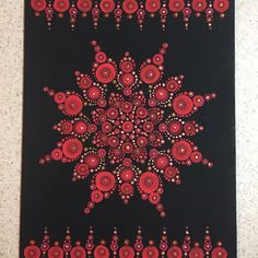 Red dot painting with hints of metallic gold and taupe #emilycole #dotart #dotmandala #dotpainting #acryliconcanvas #redpaints #mandala #dotillism #coloradoproud #intricateart #mydotaddiction #lotsofdots