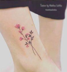 Тату Adelusha Lishka цветы миниатюра