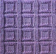 Button In A Square Stitch Knitting Tutorial - (craftcookie)