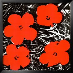 Contact paper flowers, paint it black, etch or splatter white and fill in with red! Would look great on a candle holder!