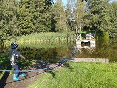 Fähre zum Ziehen auf dem Röstånga Campingplatz