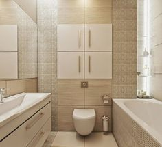 bathroom-tile-design-ideas-for-small-bathrooms-mosaic-tiles-in-beige-and-large-format-tiles