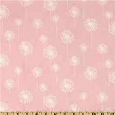 Premier Prints Small Dandelion Bella Pink/White