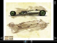 Steve Stanford Hot Rod Renderings | More apps related The Hot Rod Art Book: Masters of Chicken Scratch