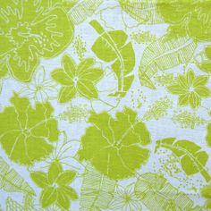Molokai collection: Molokai chartreuse fabric // by Jessica Swift for Blend Fabrics