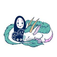 Spirited Away Haku, Spirited Away Tattoo, Spirited Away Soot Sprites, Tatuaje Studio Ghibli, Art Studio Ghibli, Studio Ghibli Movies, Studio Ghibli Tattoo, Chibi, Spirited Away Wallpaper