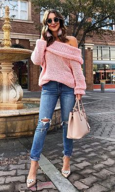 A pink sweater that everyone will be admiring