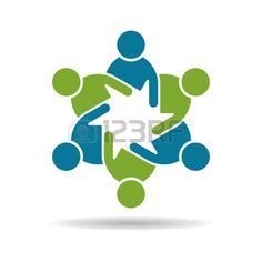 People graphic icon  Teamwork 6 group Stock Vector - 45017756