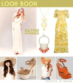 It's Friday morning, it's time for a Bridal Inspiration board to get a little bit lost in, and today, it's all about retro romance. Wedding Inspiration, Style Inspiration, Inspiration Boards, Seventies Fashion, Sexy Wedding Dresses, Brides And Bridesmaids, Dresses Uk, I Dress, Wedding Blog