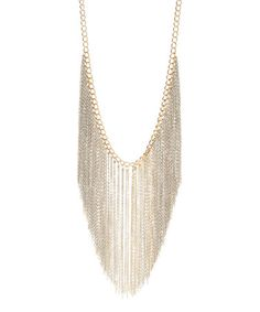 Love this Two-Tone Fringe Bib Necklace on #zulily! #zulilyfinds