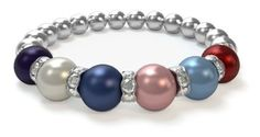 This is a beautiful bracelet!  I have one and the pics do not do it justice!  Christmas is just around the corner............... Design a Mothers Bracelet in just 3 easy steps. Use this link for FREE shipping.