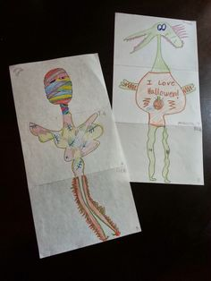 I Want to be a Super Teacher: Mixed Up Monster - Easy and Fun Halloween Art!