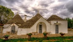 Terra dei Trulli by ubaruch  autumn trees sky clouds house roof garden ubaruch