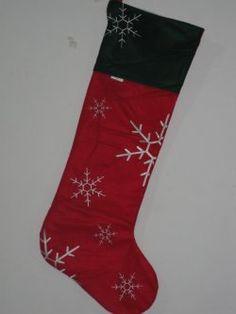 Christmas stockings ( red bottom black edges snowflake graphic )