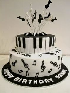 best Ideas for music note cake gold Music Birthday Cakes, Music Themed Cakes, Music Cakes, Buttercream Cake, Fondant Cakes, Cupcake Cakes, Cupcakes, Cakes For Men, Cakes And More