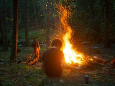 Immagine di fire, boy, and forest