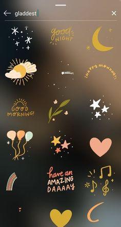 cute stickers for snap Instagram Blog, Instagram Emoji, Creative Instagram Stories, Instagram Design, Instagram And Snapchat, Instagram Story Ideas, Instagram Quotes, Instagram Story Filters, Instagram Challenge