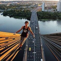 Russia's Spiderman' Kirill Oreshkin Takes Some of The Most Extreme Selfies and Images Around The World - #KirillOreshkin