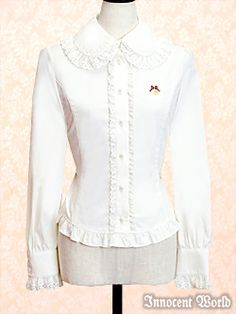 Ribbon Embroidered Blouse (White)