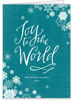 joy to the world religious christmas card