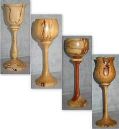 Woodturning Wood Goblets