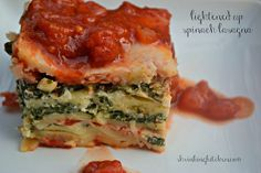 Lightened up spinach lasagna - 7 Points plus