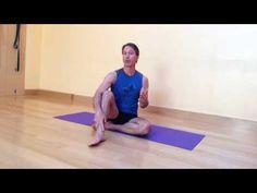 Baxter's Weekly Yoga Balance Pose: Part Reclining Vinyasa for Hip Opening Yoga Balance Poses, Balance Exercises, Hip Openers, Healthy Aging, Yoga Videos, Arthritis, Recliner, Teaching, Workout