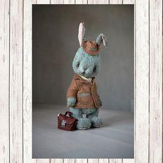 Teddy Bear stile toy Artist viscose Rabbit by SanaTeddyBears
