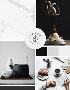Neutral, Modern Color Palette. Black and white look with a simplistic, clean design. Moodboard designed by Infinite Reach Media.