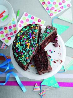 Moist chocolate cake with chocolate fudge icing