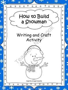 How to Build a Snowman product from The-Teacher-Fairy on TeachersNotebook.com